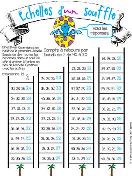 Échelles d'un souffle - Compte par bonds de 2 et 5 - Skip Counting
