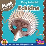 Echidna Mask | Printable Craft Activity
