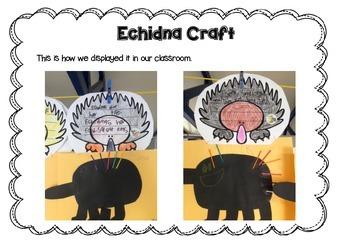 Echidna Mini Writing Unit