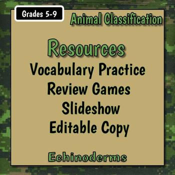 Echinoderm Teacher Notes & Worksheet