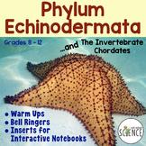 Echinodermata: Echinoderms Warm Ups, Bell Ringers, Interactive Notebook Inserts
