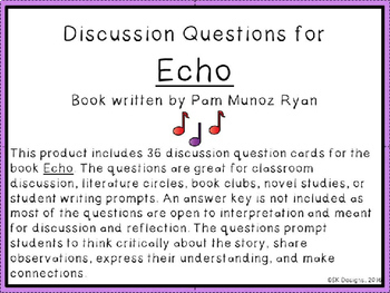 Echo Discussion Question Cards