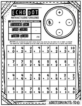 Echo Dot Math Fact Fluency Pack: Addition & Subtraction