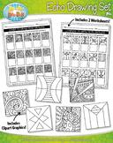Echo Drawing Clipart and Worksheets Set {Zip-A-Dee-Doo-Dah Designs}