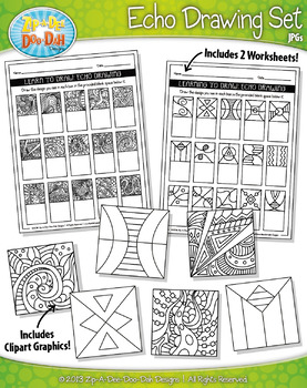 Echo Drawing Clipart and Worksheets Set