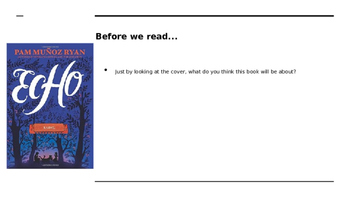 Echo Book Study PowerPoint