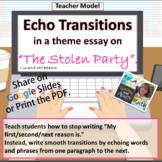 """Echo Transitions in a Model Essay on """"The Stolen Party""""."""