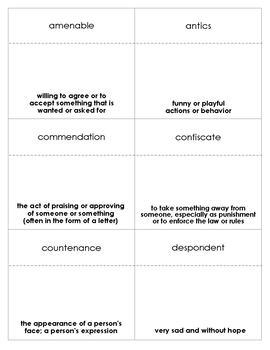 Echo Vocabulary Bingo