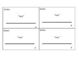 Echoic Verbal Behavior 3x5 Card Templates