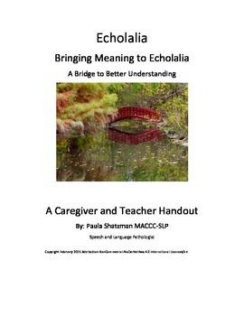 Echolalia - Bringing Meaning to Echolalia