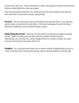 Eclat!  A fast-paced vocab game for Level 1 (Bien Dit 1)