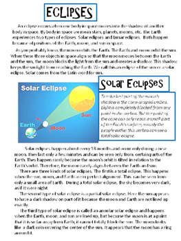 Eclipse Bundle... Content Reading, Activities, Fun and Games - editable