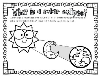 solar eclipse coloring page solar eclipse coloring page by small classroom solutions tpt