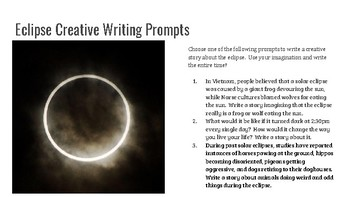Eclipse Day 2017 Creative Writing