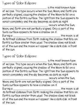 Solar Eclipse 2017 Mini Book