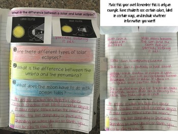Eclipse Reading Comprehension Interactive Notebook