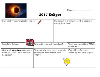 Eclipse Reflection Activity