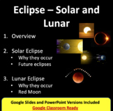 Eclipse Lesson - Solar and Lunar PowerPoint Lesson, Notes