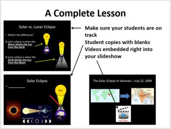 Eclipse - Solar and Lunar - Complete 5E Lesson Bundle