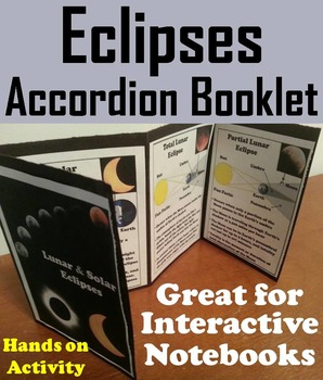 Solar and Lunar Eclipses Activity Foldable (Space Science/ Astronomy)