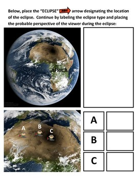 Eclipses: Solar and Lunar Eclipses - 2 Activity COMBO (Colorful!!!)