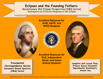 Eclipses and the Founding Fathers: Revolutionary War Eclipse Perspectives - DBQ