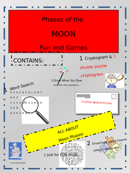 Eclpses, Tides, and Moon Phase Content Reading, Fun and Games Bundle
