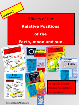 Eclpses, Tides, and Moon Phase Content Reading, Fun and Ga
