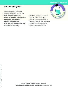 Eco Action Poems, Discussion Questions and Creative Expression Pages