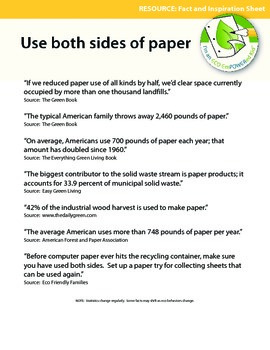 Eco Facts and Inspiration