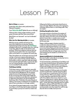 Eco-Friendly Style Lesson Plan