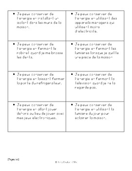 Eco-House Project French Cue Cards