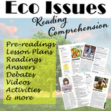 Eco Issues Bundle - 4 Environmental Reading Worksheets & L