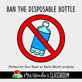 Earth Day Activity - Ban the disposable bottle - Eco Team - School Eco Club