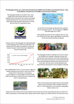 Eco-Tourism - The Galapagos Islands