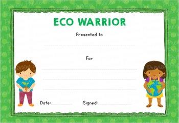 Eco Warrior! Certificate