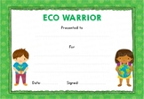 Eco Warrior! Certificate