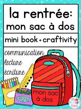 La Rentrée sac à dos craft mini book