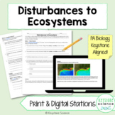 Ecological Disturbances to Ecosystems Stations Review Biology Keystone Aligned