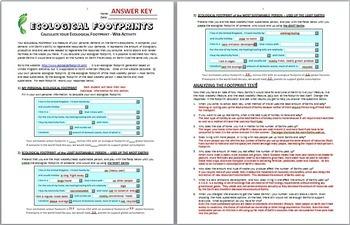 Ecological Footprints - Internet Activity {Editable}