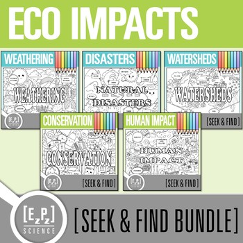 Ecological Impact Seek and Find Science Doodle Page Bundle