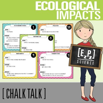 Ecological Impacts Chalk Talk Task Cards
