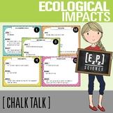 Environmental Impacts Science Task Cards - Chalk Talk Art
