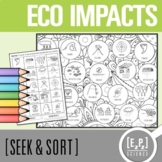 Ecological Impacts Seek and Sort Science Doodle and Card Sort