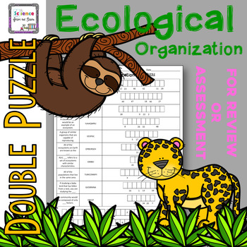 Ecological Organization Double Puzzle for Review or Assessment
