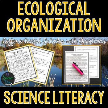 Ecological Organization  - Science Literacy Article
