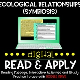 Ecological Relationships/Symbiosis Digital Read and Apply