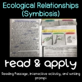 Ecological Relationships/Symbiosis Read and Apply