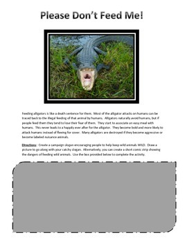 Ecological Role of Gator Holes in the Everglades & Don't Feed ME Activity