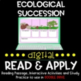 Ecological Succession DIGITAL Read and Apply for Distance